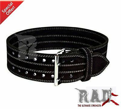 2Fit Nubuck Leather Weigh Lifting&Bodybuilding Power Back Support Gym Belt-LARGE