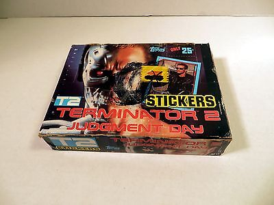 1991 Topps Terminator 2 T2 Stickers Wax Pack Box Set + extras Free Priority Ship