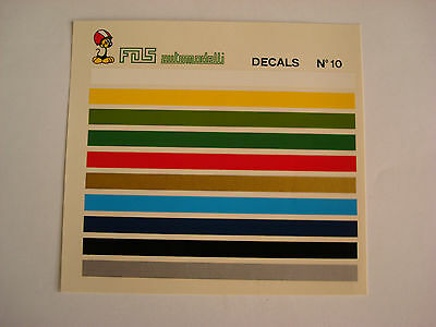 Decals Kit 1/43 Bande Colorate Decals N.10 Generica Decal