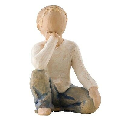 New & Boxed Willow Tree Figurine Young Boy 'Inquisitive Child' #26227