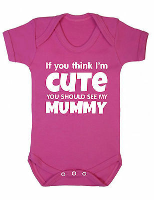 Baby Grow - Cute Mummy Vest Funny Gift Boy Girl Shower Christening Present
