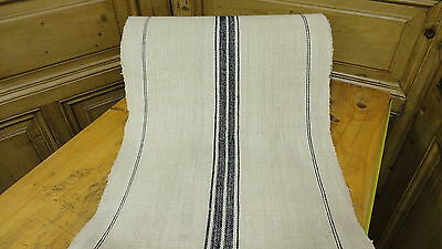 Homespun Linen Hemp/Flax Yardage 28 Yards x 20'' Blue Stripes   #6419