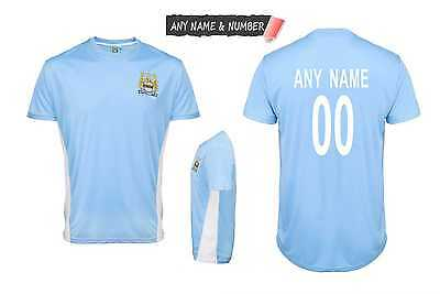 Personalised Kids Manchester City Fc Official Football T Shirt Genuine Any Name