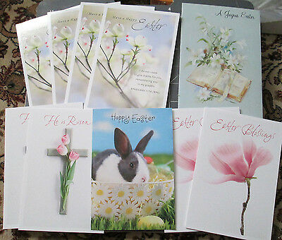 Mixed Lot of 10 Hallmark & Vtg Coronation EASTER CARDS w/ envelopes RELIGIOUS