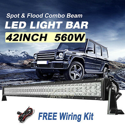 """42inch 400W PHILIPS LED Work Light Bar Flood Spot Combo Offroad PICKUP 4x4WD 50"""""""