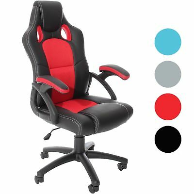 Office Gaming Chair Racing Back Luxury Computer PU Swivel Sports Executive Style