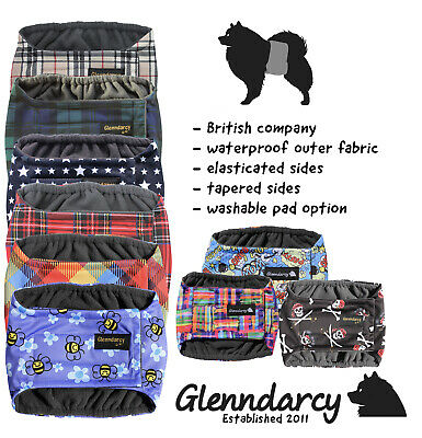 Glenndarcy Male Dog Belly Band Belt Nappy Diaper | Waterproof Fabric