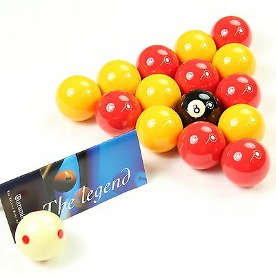 Aramith LEAGUE Edition Red & Yellow 2 Inch Balls - PRO CUP Spotted Cue Ball