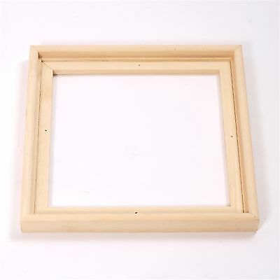 2 WOODEN CANVAS FLOATER FRAMES | 40x40cm | shadow box for stretched canves