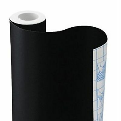 9ft Solid Black contact wall paper self adhesive Shelf liner peel & stick