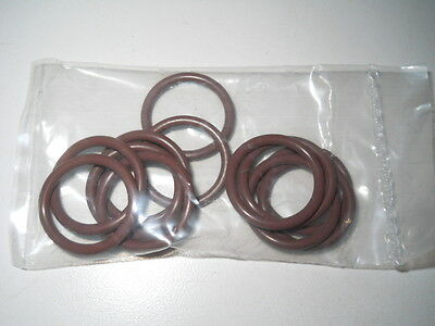 (12) Chemglass #116 Synthetic Brown Rubber Viton O-Rings, CG-305-15