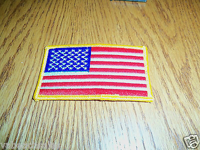 """USA American Flag Embroidered Patch 3.5"""" x 2.25"""" Sew/Iron On NEW Made in USA"""