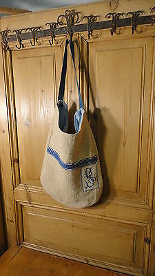 Antique European Grain Sack,Tote Bag, Book Bag,Ipad Bag,Purse.#6480