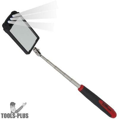 Rotating LED Lighted Telescoping Inspection Mirror Ullman HTK-2LT New