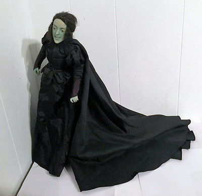 "Wizard of Oz Wicked Witch Franklin Mint Porcelain Doll 20"" Margret Hamilton used"