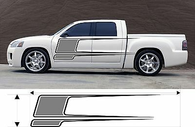 VINYL GRAPHICS DECAL CAR BOAT TRUCK KIT CUSTOM SIZE COLOR VARIATION F2-64-M