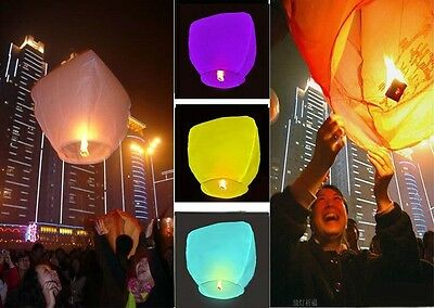 Lots China KongMing Sky Fire Flying Lanterns For Party Wedding Birthday 9 Color