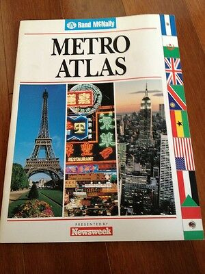 Rand McNally METRO ATLAS -Largest cities land areas-World/ Learning Tool