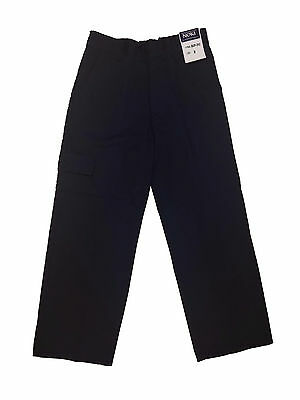 Boys 4-16 Navy School Uniform Pants w/ Back Elastic Waist & Cargo Pocket