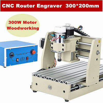 CNC 3020T 3 Axis motors Router Engraver/Engraving Drilling Milling Machine