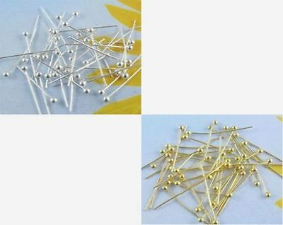 Wholesale 18/20/24/30/40/50mm, Silver plating/Gold plated Solid Ball Head Pins