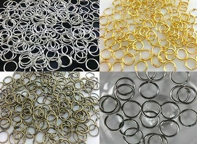 4mm,5mm,6mm,8mm,10mm,12mm,14mm Jump Rings Open Connectors Jewelry Finfing Making