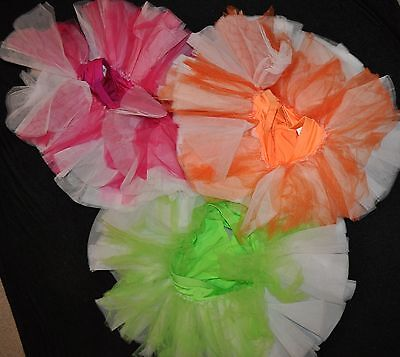 New Marcea Adult size Medium Dance TuTu with attached shorts tulle, 3-colors
