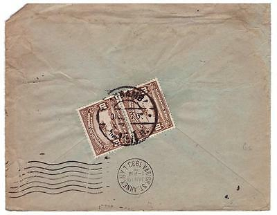 shop1114 Ecuador cover to Canada stamped on reverse