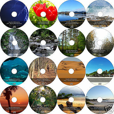 16 Relaxation CD Nature Sons Méditation disques antistress relaxant Yoga etc