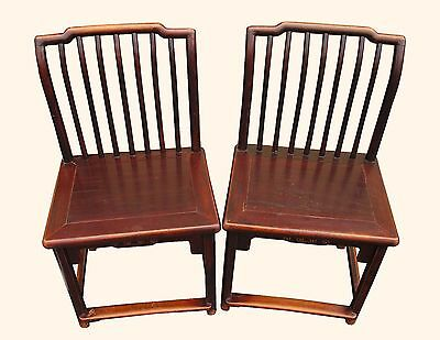 A Pair Chinese Wood Chair Qing Dynasty