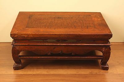 A Beautiful Chinese Antique Burl Wood Carve Kang Table Coffee Tea Table
