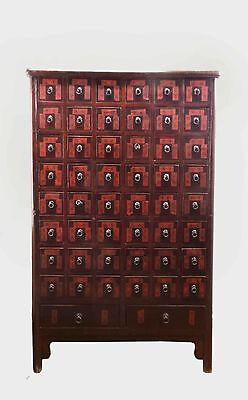 A Nice Chinese Traditional style Brown Red Color Herbs Cabinet with 50 Drawers
