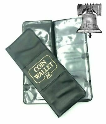 H.E.Harris 24 Pocket Coin Wallet for 2x2 Holders Storage