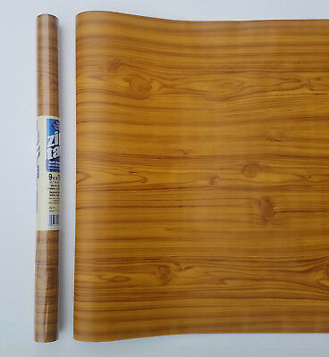 9ft Knotty Pine Wood grain self adhesive contact wall paper Shelf liner 9'x18""