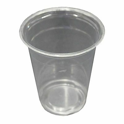 100 x 9oz Plastic Clear Cups 250ml Disposable Great For Cold Drinks Party