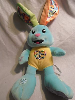 """FISHER-PRICE LAUGH and LEARN TEACHING Bunny 12"""" Plush Soft Toy Stuffed Animal"""