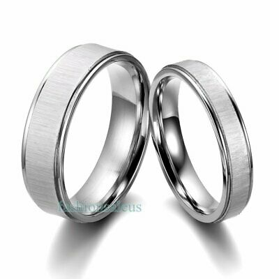 Stainless Steel Comfort Fit Men's Women's Couples Rings Wedding Band Silver-tone