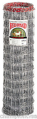 """Red Brand 48""""H x 100'L, 4"""" x 4"""" Mesh, Galvanized Sheep & Goat Fencing 180807"""