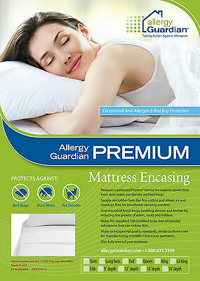Allergy Guardian SINGLE BED Cover Anti Dust Mite and Bed Bug - Pristine Fabric