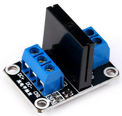 DC 5V  240V 2A 1CH 1-Channel SSR Solid-State Relay Module High Level Trigger