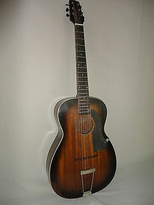 VINTAGE EARLY 1930'S HARMONY PATRICIAN GUITAR  *ROUND HOLE ARCHTOP *