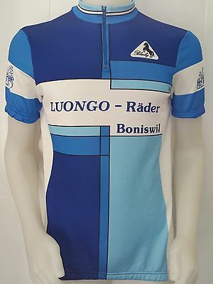 MAGLIA SHIRT CICLISMO LUONGO RADER BONISWIL TAG.XL ITALY JERSEY BIKE CYCLES F51