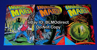 1990 Invaders From Mars 1 2 3 Full Complete Run 1 3 1st Print Movie Eternity
