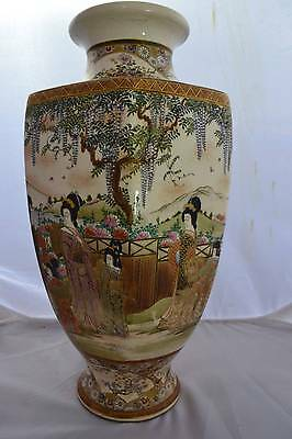 19C Satsuma Magnificent Handpainted Massive Vase From The Studio Of Seikozan
