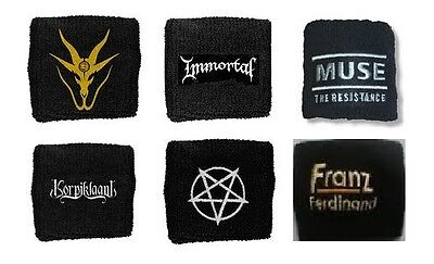 3 INCHES OF BLOOD immortal MUSE korpiklaani PENTAGRAM franz ferdinand SWEATBAND