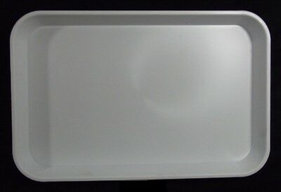 Kabi Plastic Deep White Catering Tray - KB8 x30