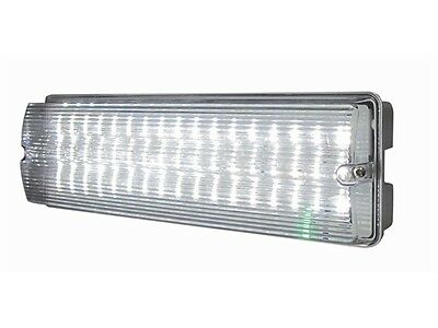 LED Emergency Light 6w Bulkhead c/w Legend Kit IP65 Maintained or Non