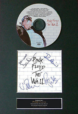 PINK FLOYD The Wall Signed Autograph CD & Cover Mounted Print A4 13