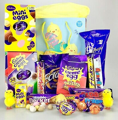 The DELUXE REAL WICKER SWEET HAMPER Large Retro Mix Birthday Thank You Valentine