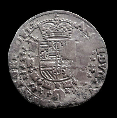 (1598-1621) Silver Spanish Netherlands/flanders 1/4 Patagon Coin Very Fine